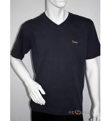 футболка Glacier Однотонная футболка V-ворот черная