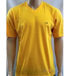 футболка Glacier Однотонная футболка V-ворот желтая