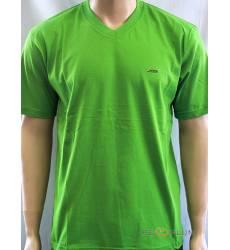 футболка Glacier Однотонная футболка V-ворот зеленая