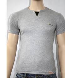 футболка Glacier Однотонная футболка Стрейч v-ворот с кнопками серы