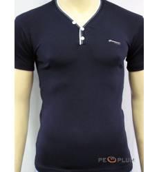 футболка Glacier Однотонная футболка Стрейч v-ворот с пуговицами те