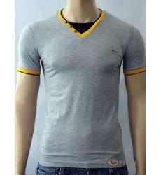 футболка Glacier Однотонная футболка Стрейч v-ворот с пуговицами се