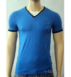 футболка Glacier Однотонная футболка Стрейч v-ворот с пуговицами ва