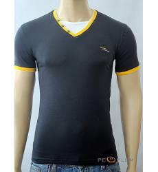 футболка Glacier Однотонная футболка Стрейч v-ворот с пуговицами ан