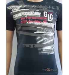 футболка Glacier Футболка с текстом / слоганом Стрейч антрацит