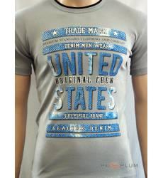 футболка Glacier Футболка с текстом / слоганом Original crew серая