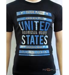 футболка Glacier Футболка с текстом / слоганом Original crew черная
