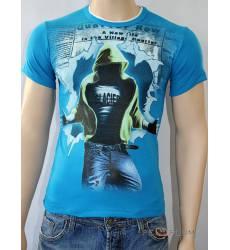 футболка Glacier Футболка в урбан-стиле Quarter row стрейч бирюзова