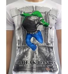 футболка Glacier Футболка в урбан-стиле Break Dance стрейч белая