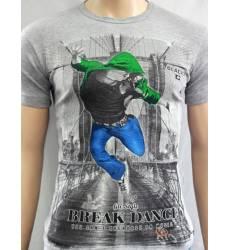 футболка Glacier Футболка в урбан-стиле Break Dance стрейч серый ме