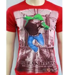 футболка Glacier Футболка в урбан-стиле Break Dance стрейч красная