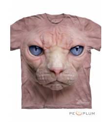 футболка The Mountain Футболка с кошкой Hairless Pussycat