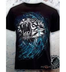 футболка Shark Футболка с тигром Tiger Black Mens
