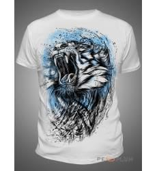 футболка Shark Футболка с тигром Tiger White Mens
