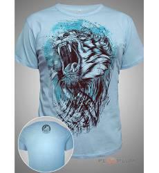 футболка Shark Футболка с тигром Tiger Blue Mens