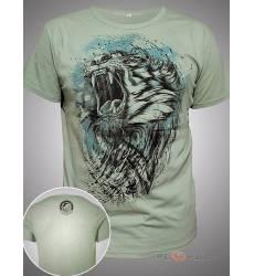 футболка Shark Футболка с тигром Tiger Olive Mens