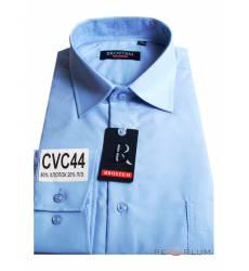 рубашка Brostem Однотонная рубашка с длинным рукавом Сорочка голуб