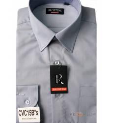 рубашка Brostem Однотонная рубашка с длинным рукавом Сорочка серо-