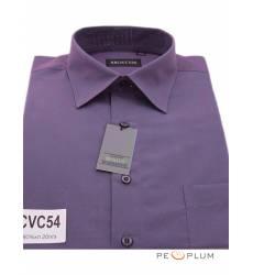 рубашка Brostem Однотонная рубашка с длинным рукавом Сорочка фиоле