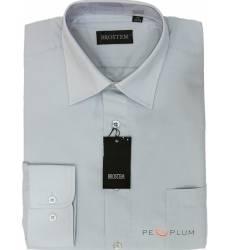 рубашка Brostem Однотонная рубашка с длинным рукавом Сорочка серая