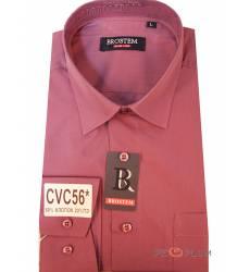 рубашка Brostem Однотонная рубашка с длинным рукавом Сорочка темно