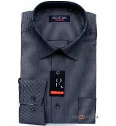 рубашка Brostem Рубашка в полоску с длинным рукавом Сорочка серо-с