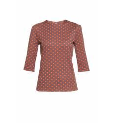 блузка Fly Свободная блуза с руковами три четверти и прин