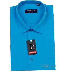 рубашка Brostem Однотонная рубашка с длинным рукавом Сорочка класс