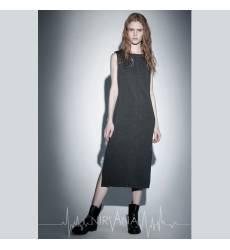 NIRVANA.MODA серое платье женское V-gray dress 36094369