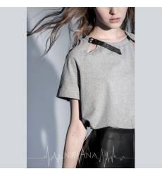 NIRVANA.MODA серая футболка женская Grey T-Shirt 36094372