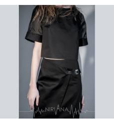 NIRVANA.MODA черный топ женский Top black 36094378