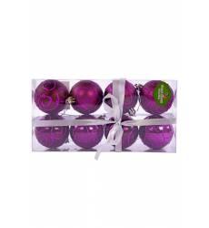 Н-р шаров 6 см, 8 шт., фиолет. НОВОГОДНЯЯ СКАЗКА Н-р шаров 6 см, 8 шт., фиолет.