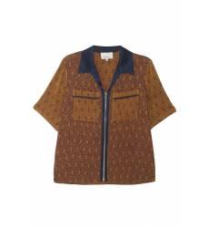 Жаккардовая блузка в пижамном стиле Жаккардовая блузка в пижамном стиле
