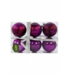 Н-р шаров 7 см, 6 шт., фиолет. НОВОГОДНЯЯ СКАЗКА Н-р шаров 7 см, 6 шт., фиолет.