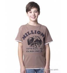 Футболка Million X для мальчика, цвет светло-коричневый 38277571