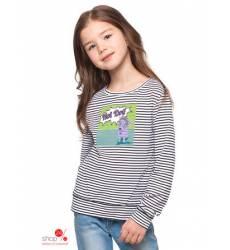 Лонгслив Vilatte для девочки, цвет белый, черный 38861159