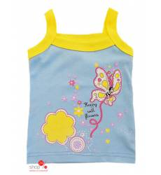 Топ Л-Текс для девочки, цвет голубой, желтый 39084747