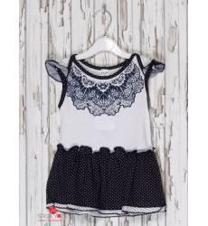 Платье Клим для девочки, цвет белый, темно-синий 39085059