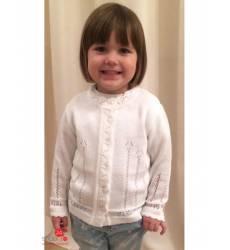 Кардиган Лютик для девочки, цвет белый 39085209