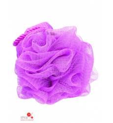 Мочалка со шнуром QVS, цвет розовый 39085487
