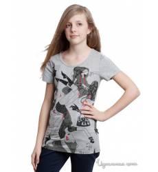 Футболка Million X для девочки, цвет серый 39085574