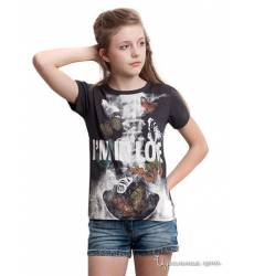 Футболка Million X для девочки, цвет серо-коричневый 39085576