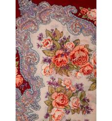 Бордовый платок с розами Бордовый платок с розами