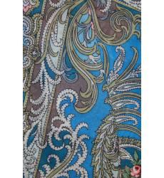 Синий платок с узорами Синий платок с узорами