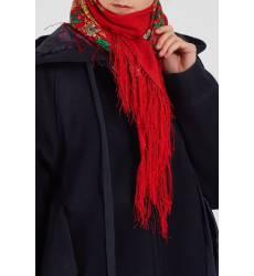 платок Павловопосадская Платочная Мануфактура Красный платок с розами