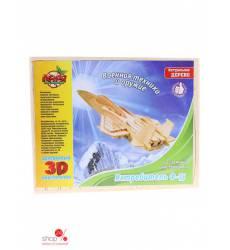 Конструктор деревянный 3D Самолет истребитель ф-15 Лесная мастерская 40488136