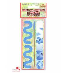 Набор для педикюра 3 предмета Мультидом, цвет голубой 40489597