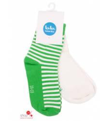 Носки, 2 пары Button Blue детские, цвет зеленый, белый 40788189