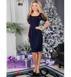 Платье ВИШНЯ, цвет темно-синий 41275060