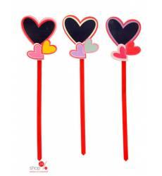 Сувенир на палочке Сердца с доской для записей Joy 41709290